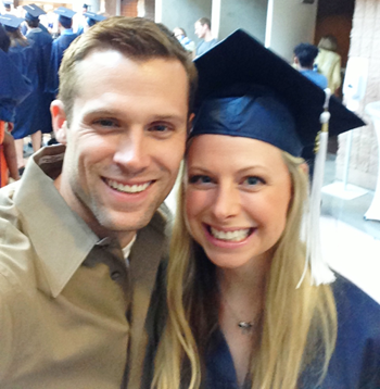 Lissa and her husband Cade at Commencement