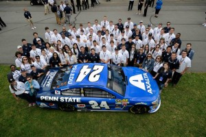 Penn State Students at NASCAR Race. Photo by Beth Fahey.
