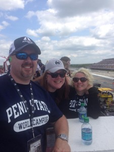 World Campus students at NASCAR race. Photo by Beth Fahey.