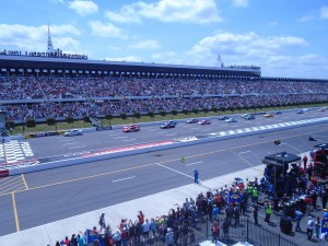Rooftop Deck View at NASCAR Race. Photo by Chase Kelly.