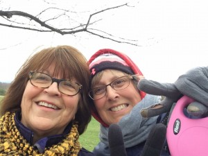 Betsy and Michelle enjoy a walk in the park!